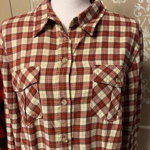 Eddie Bauer flannel button down shirt